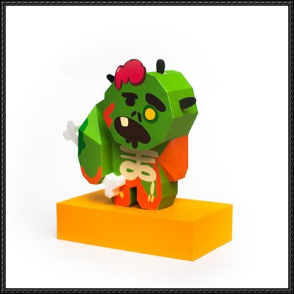 LINE Cookie Run - Zombie Cookie Ver.2 Free Papercraft Download - http://www.papercraftsquare.com/line-cookie-run-zombie-cookie-ver-2-free-papercraft-download.html