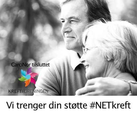 Kjenner du noen rammet av NET-kreft. CarciNor arbeider for alle som er rammet av NET-kreft. Vi tilbyr medlemsmøter, likepersonsamtaler og informasjon gjennom medlemsblad og nettsider. Er du eller noe du kjenner rammet av NET-kreft, vil vi gjerne ha deg som medlem.  http://www.carcinor.no