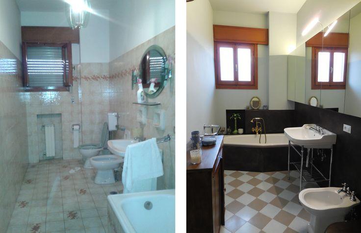 Before + after_master bathroom