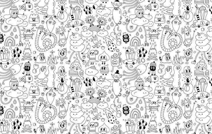 Simple Line Art Background : Wall paper yeka haski wallpaper line art doodle