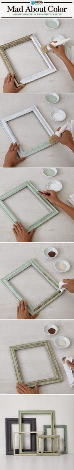 Make beautiful frames with Vintage Decor Paint and Wax