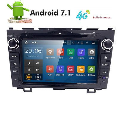 ﹩199.50. Quad Core Goole Android 7.1 Car Stereos for Honda CRV 2008-2011 DVD GPS Navi 2GB   Features - Sony CD lens, Screen Size - 8in., Unit Size - Standard 2 din, Special Features - GPS Map,Bluetooth,Radio,AUX SD MIC, Built-in - Bluetooth , FM AM RDS Radio, Inner Mic, Support - DVD CD MP3 MP4 Player, Input / Output - USB SD AUX / Microphone, Screen Type - 8 inch 1024*600 HD Digital Touch Screen, Resolution - 1024*600, UPC - Does not apply, Changer Control Media Type - DVD, Playable Vid