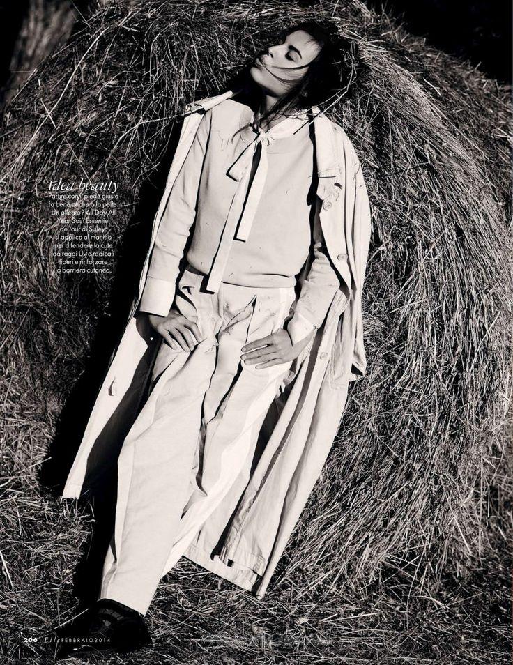 cool Elle Italia February 2014 |Kasia Smutniak by David Burton  [Cover+Editorial]