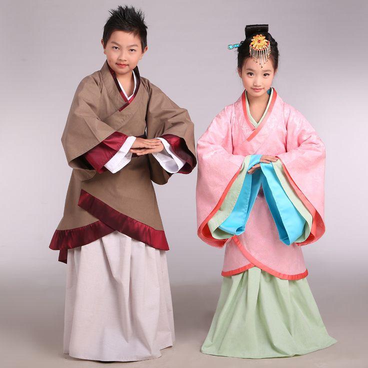 Hanfu Costume Boy Belt Clothing Set Child Costume Fancy