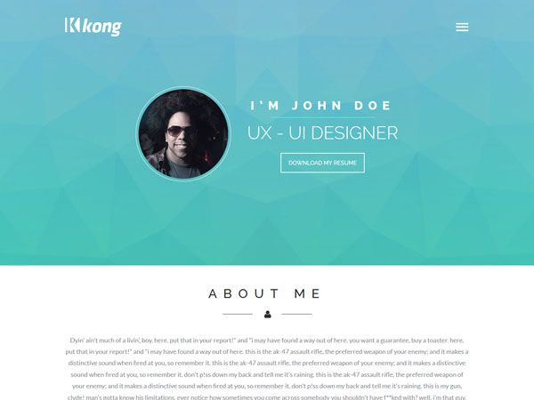 23 best Free Personal vCard \ Resume HTML Templates images on - html resume