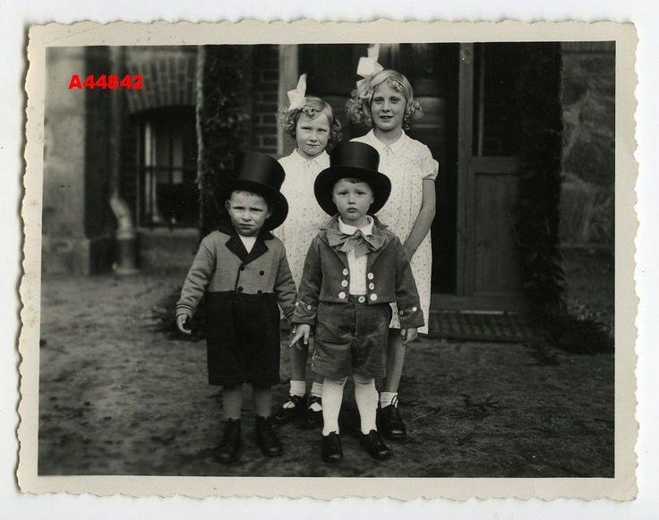 1930s винтажные виртуал группы милые девочки и мальчики, цилиндры, луки | eBay