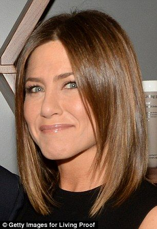 Queen of the barnet: Jennifer Aniston has transitioned back to her longer, honey-hued tres...