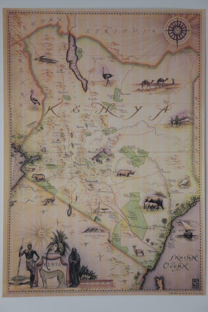 Map of Kenya 567 best GlobesMaps images