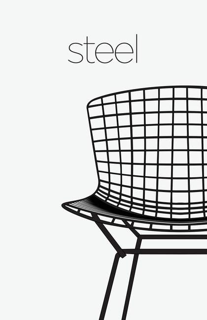 Modern Furniture Classic 1952 Wire Chair by KKEN Art & Design
