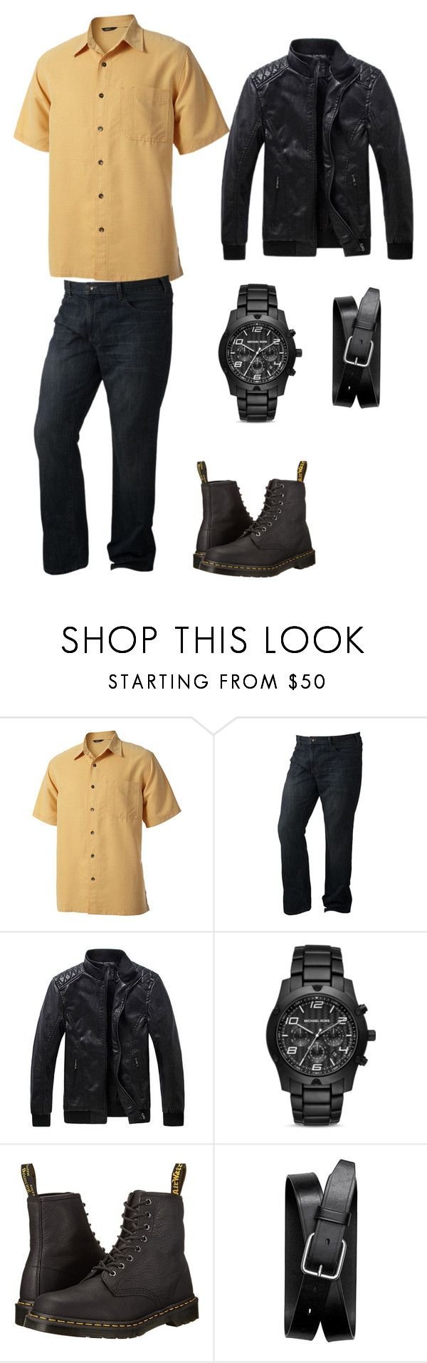 """""""Chapter 2 Girls Night Out Oliver"""" by sara-scott-i on Polyvore featuring Royal Robbins, SONOMA Goods for Life, Michael Kors, Dr. Martens, Banana Republic, men's fashion and menswear"""