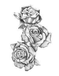 Bildergebnis für drei schwarze und graue Rosen, die Tätowierung zeichnen