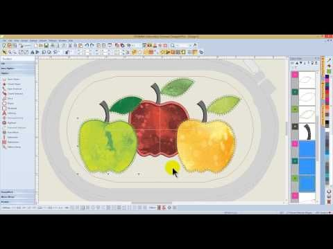 BERNINA Embroidery Software 7 - Tool Tip - Remove Applique Overlaps - YouTube