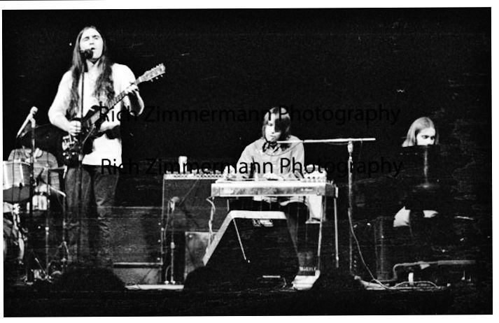 Craig Fuller, John David Call, Michael Connor--onstage 1972