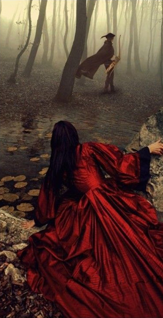 the huntsman and snow white | I probably wouldn't write it as snow white but it is still a good picture.