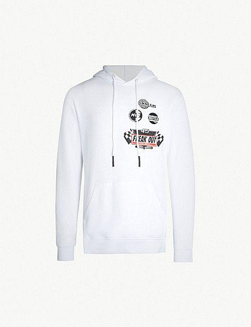 0828bdafb58 MCQ ALEXANDER MCQUEEN Sponsor-print cotton-jersey hoody | T - Shirts ...