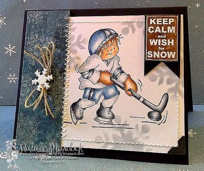 """High Hopes Stamps: """"Wish for Snow"""" by Natalie using New Release """"Gabriel is a hockey player"""" (S517) and Sentiment Set #1 (U500)"""
