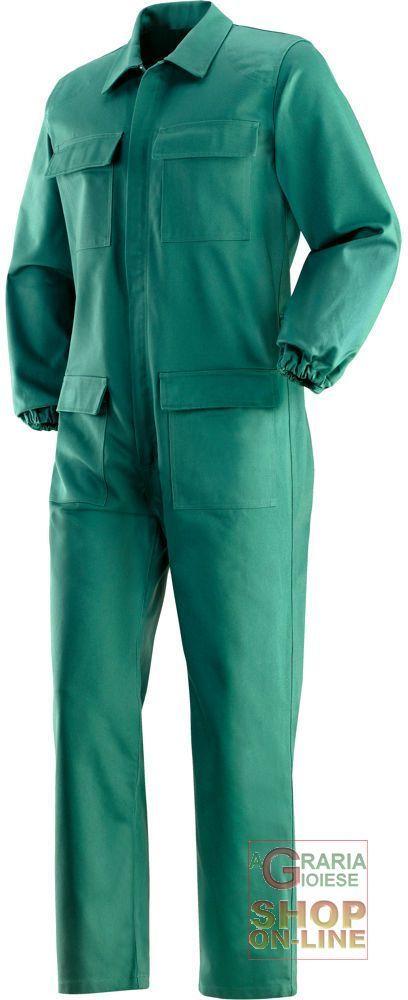 TUTA IGNIFUGA 100% COTONE GR  370 MQ  COLORE VERDE  TG  48 62 https://www.chiaradecaria.it/it/abbigliamento-in-cotone/18641-tuta-ignifuga-100-cotone-gr-370-mq-colore-verde-tg-48-62.html