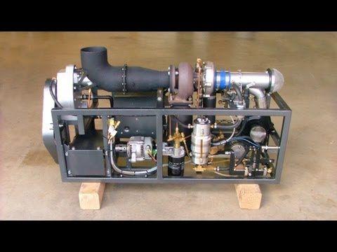 Home built model jet engine