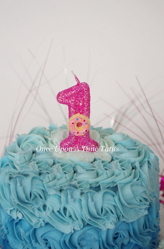 Hot Pink Glitter Birthday Candle