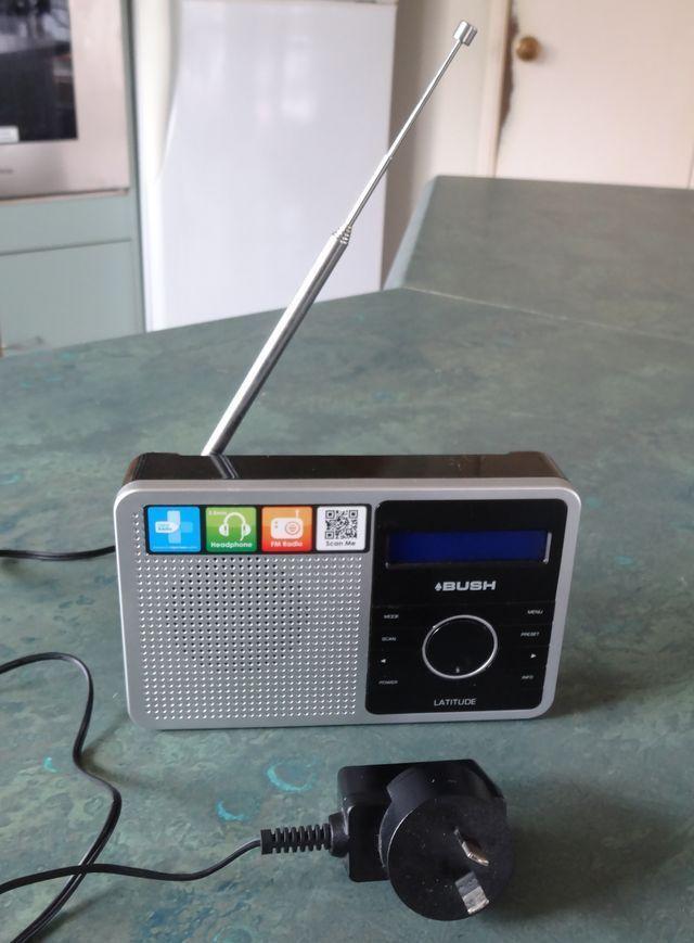 BUSH Latitude Mini Portable DAB and FM Radio With/ Ac Adapter