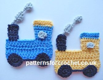 Free crochet pattern for train motif http://www.patternsforcrochet.co.uk/train-motif-usa.html #patternsforcrochet