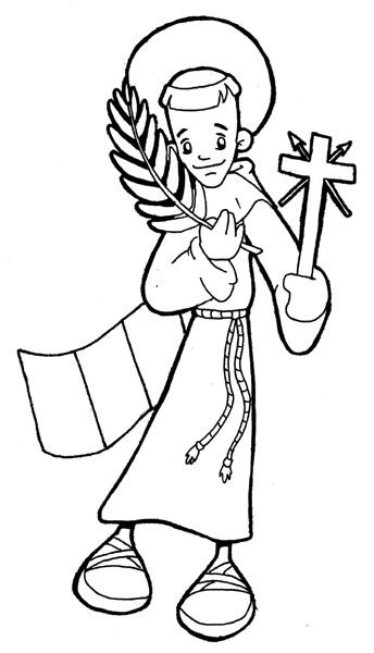 st philip of jesus san felipe de jess catholic coloring page not to