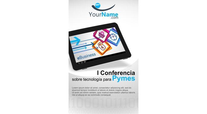 #folleto para Conferencia de Tecnología en el sector venta al por menor.