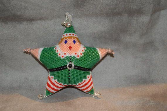 Peyote Elf Star by AnnanootsTreasures on Etsy