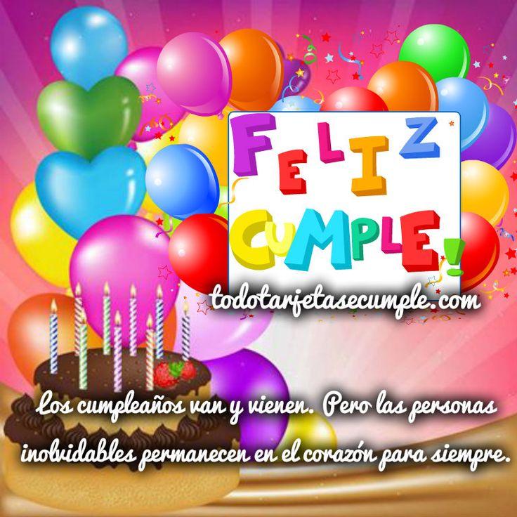 imágenes de cumpleaños con globos y frase jpg (767 u00d7767) mensajes Pinterest