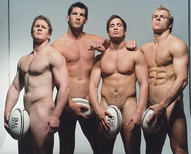 Naked English Rugby Players