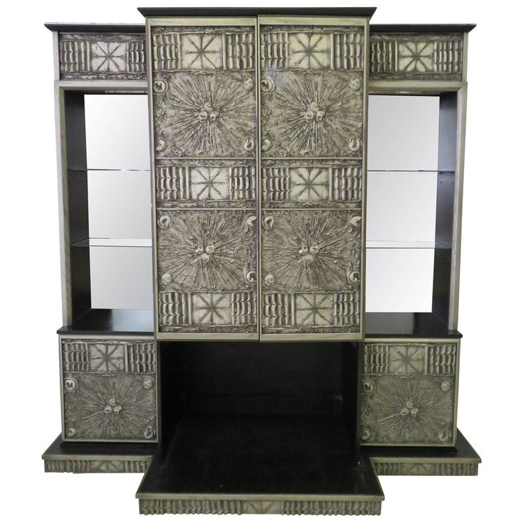 Rare Adrian Pearsall Brutalist Three-Piece Wall Unit Bar Stereo Cabinet Speakers   – BG Galleries Featured Inventory + Things We Love