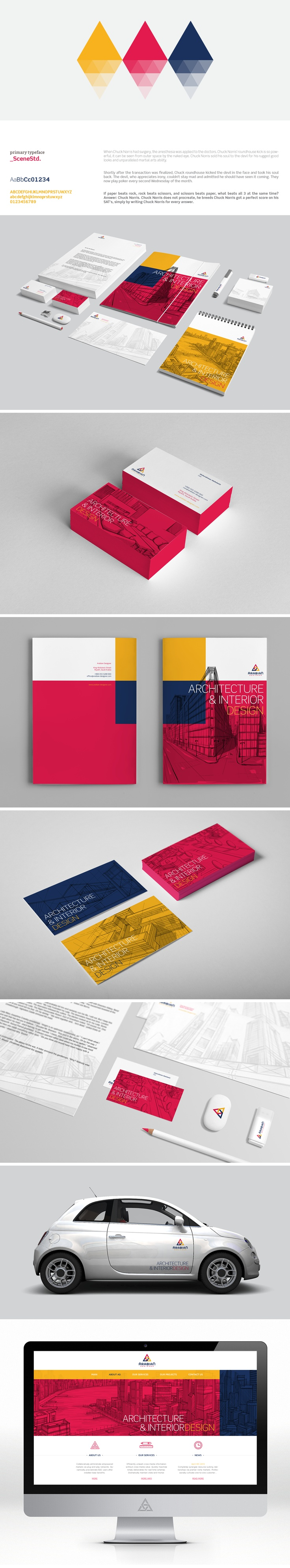 triptic - nice to see the smart use of a darker yellow for an effective primary color scheme.