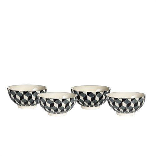 Bowls 3-D black set4 - pols potten