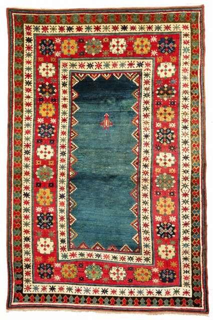 Kazak Rugs: A Kazak rug Lambalo // 2nd half 19th cent. Beautiful!