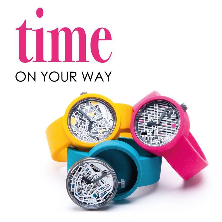 O clock - City map / time on your way / Paris, New York, Amsterdam www.Obag.com.co