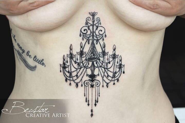 Chandelier tattoo. Belly placement. | Tattoos | Pinterest ...