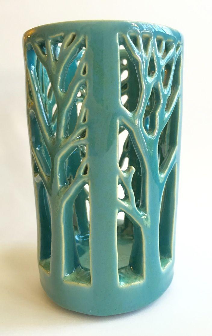 Tree Lantern Hand Carved Porcelain Luminary Robbins Egg