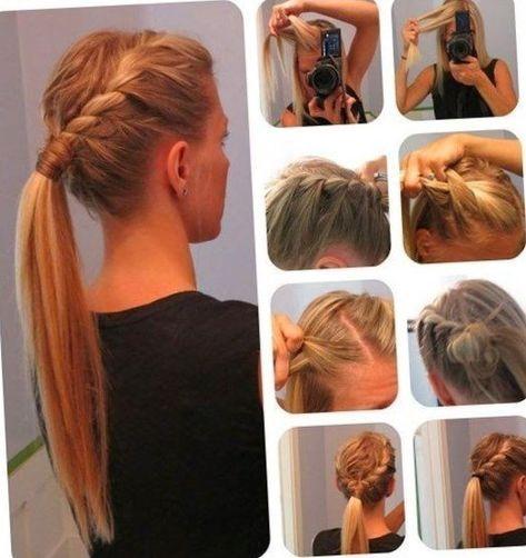 Coiffure simple et rapide a faire. #Coiffure #cheveux #Idee #tendances2018 #tendances2019