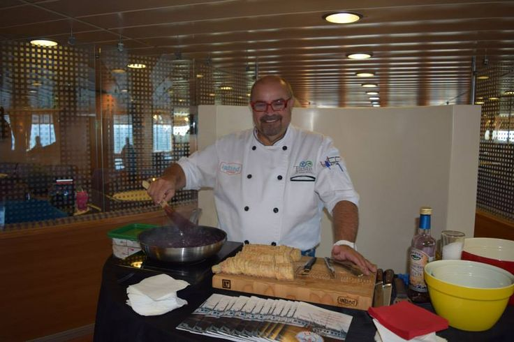 Alain Bosse aka The Kilted Chef cooks onboard the Fundy Rose  via The Kilted Chef