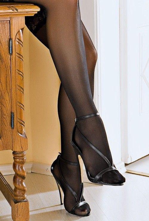 Legs heels nylon