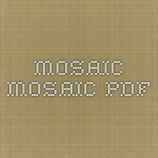 Mosaic Knitting Pattern Generator : mosaic - mosaic.pdf mosaic knitting Pinterest Mosaics
