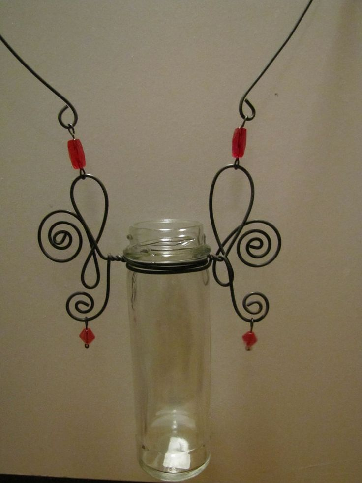 Glass And Threath Candle Holder Recycled
