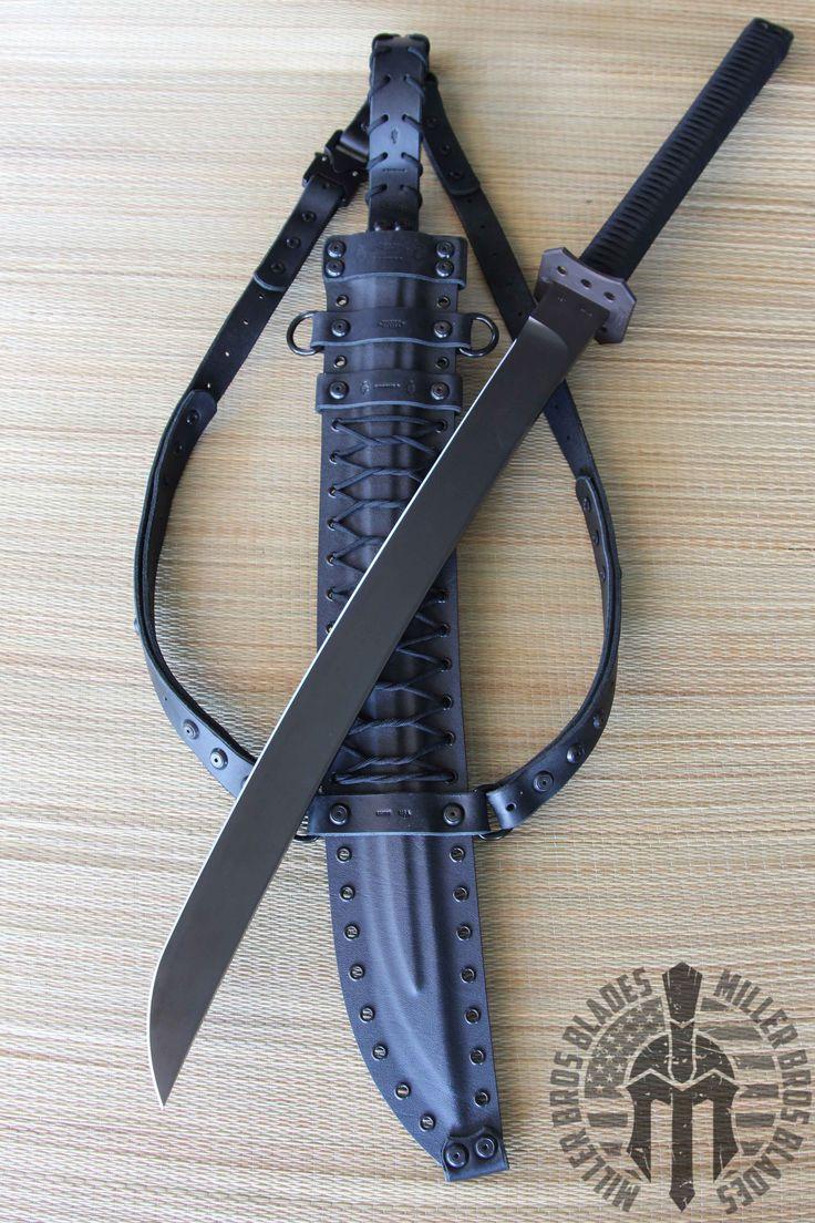 Miller Bros. Blades Custom Katana. This model is available in Z-Wear PM, CPM 3V,, Z-Tuff PM steel. Miller Bros. Blades Custom Handmade Knives, Swords & Tomahawks.