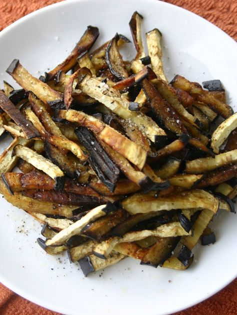 Freckled Italian: Recipe: Paleo Eggplant Fries