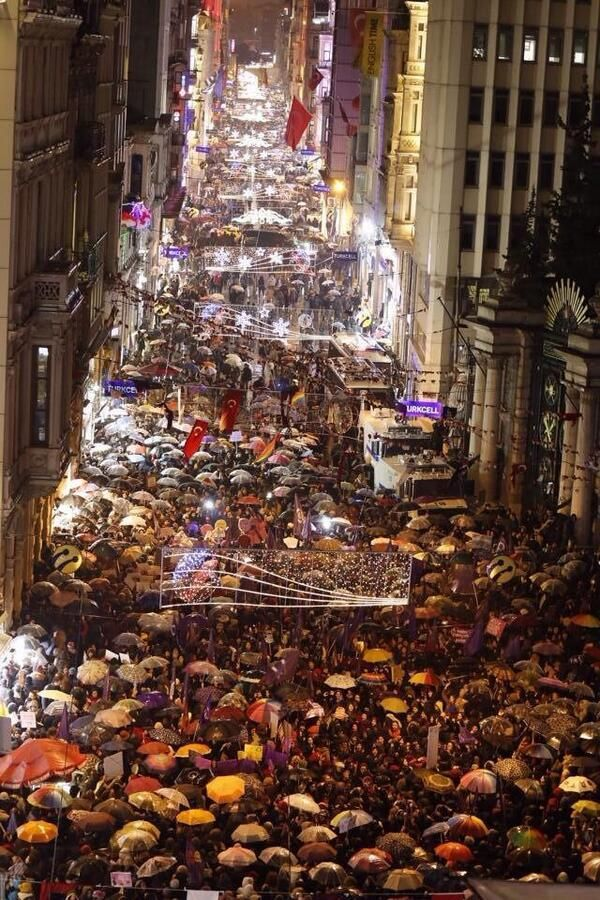 İstanbul, Turkey - Women on street for the Women's Day