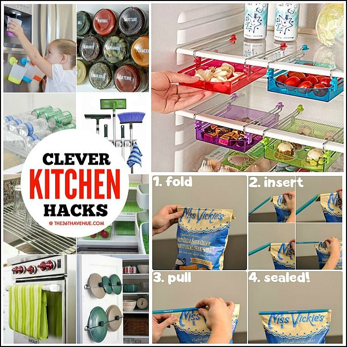 Clever Kitchen Hacks and Gadgets that will change your life! - These 45 Kitchen…