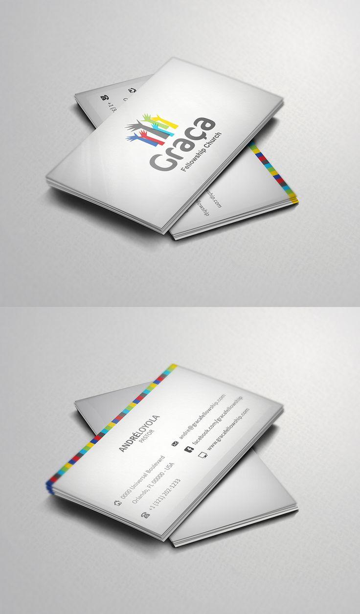 Cartão de Visita Graça Fellowship Church, Orlando - Fl. EUA #graphicdesign