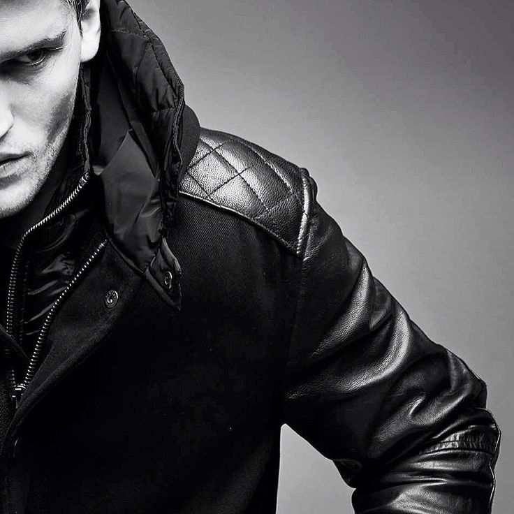 Parka leather sleeves