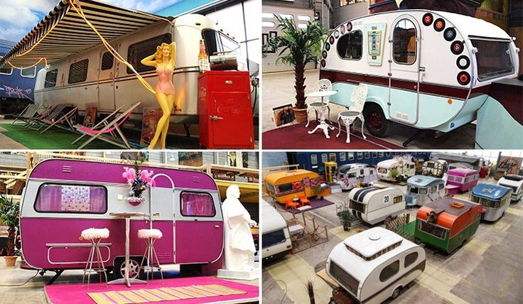 The world's coolest hostel in Germany: An indoor campsite with retro RVs!