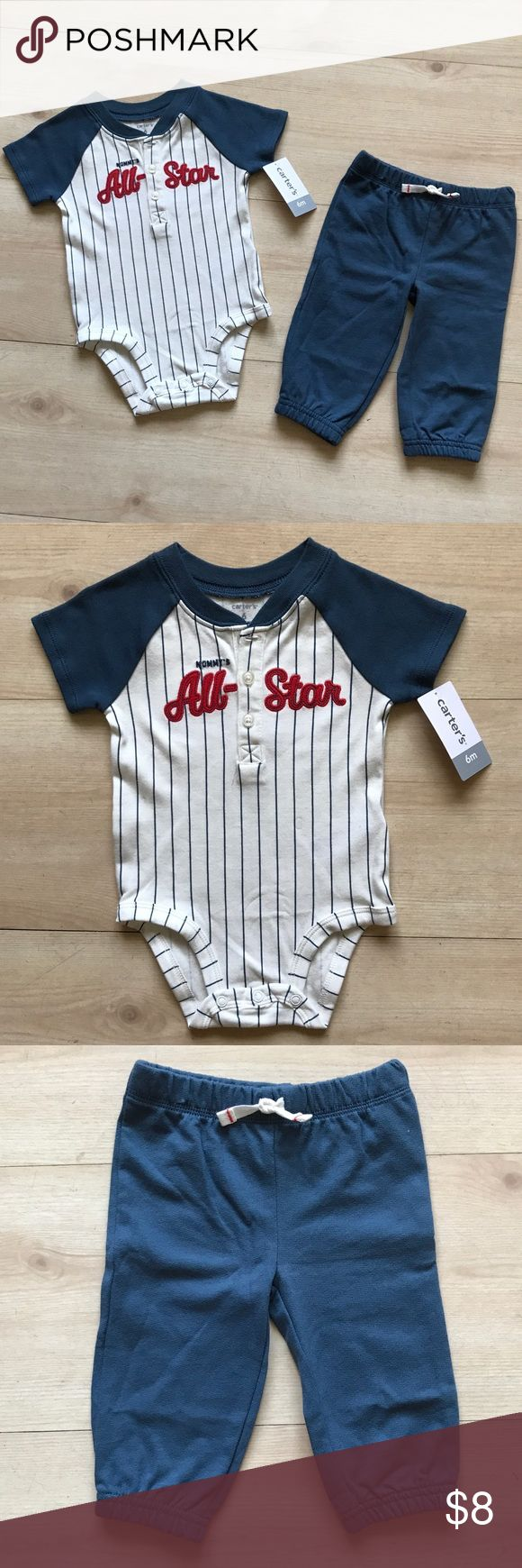 Carters Base Ball Outfit  ⚾️ Baseball ⚾️ lovers. Adorable outfit makes baby ready for the game.  Dad will be so proud to see his little one look so cute!     NWT Carters Matching Sets